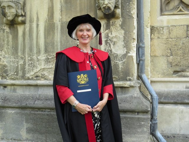 graduating with my Doctorate at Canterbury Cathedral, 15 July 2016.